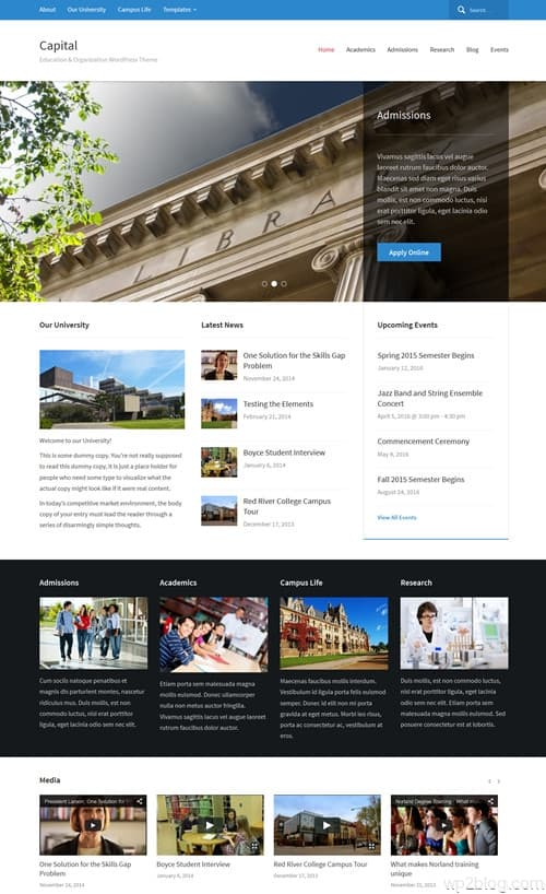 WPZoom Capital WordPress Theme