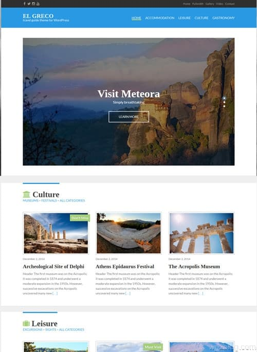 El Greco WordPress Theme