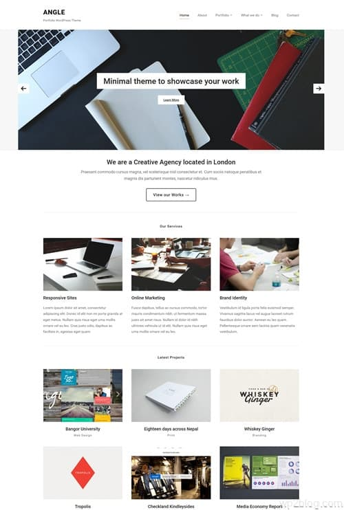 Angle WordPress Theme