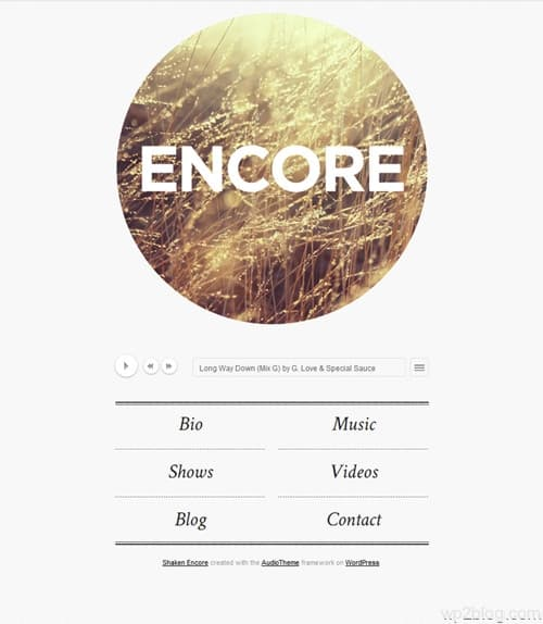 Shaken Encore WordPress Theme