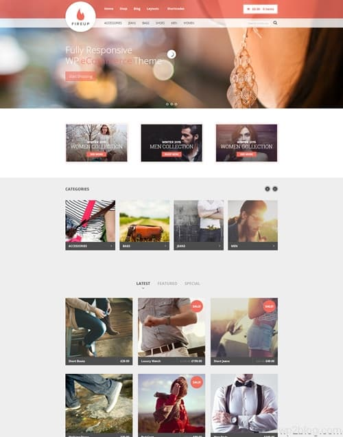 Fireup WordPress Theme