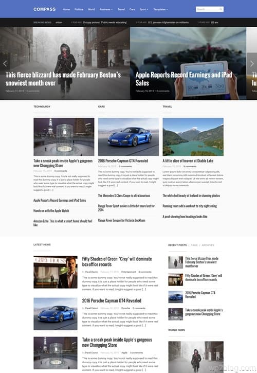 Compass WordPress Theme