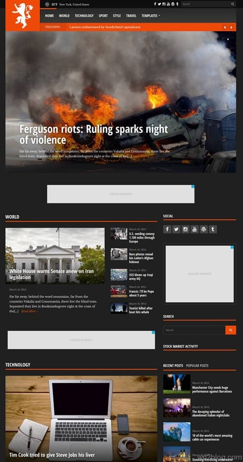 Tabloid WordPress Theme