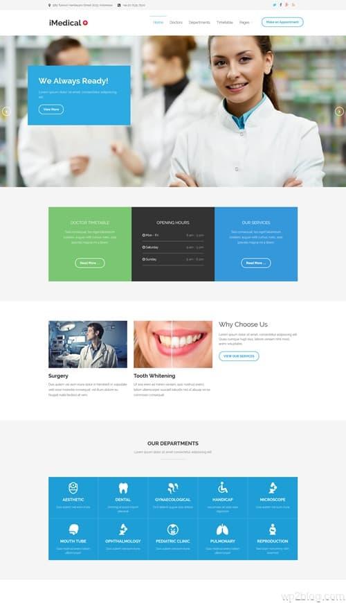 iMedical WordPress Theme