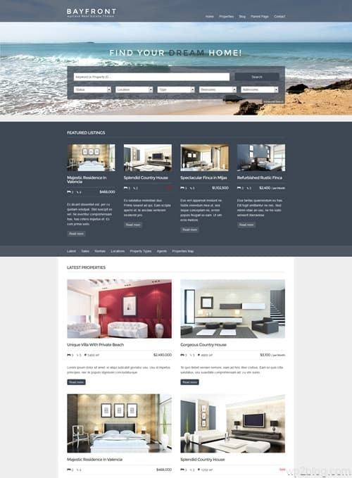 Bayfront WordPress Theme