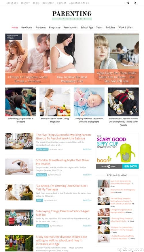 Parenting WordPress Theme
