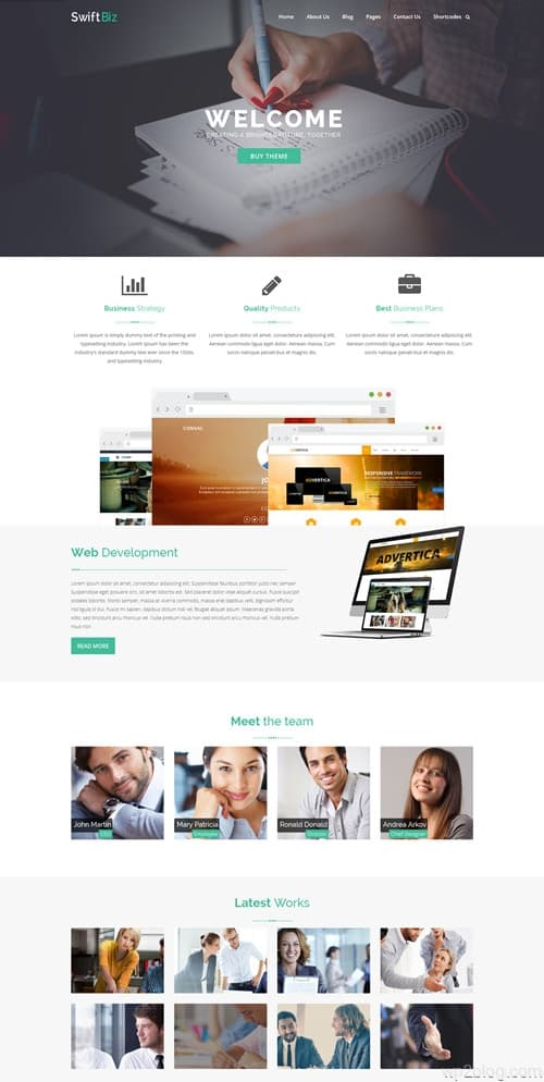 SwiftBiz WordPress Theme