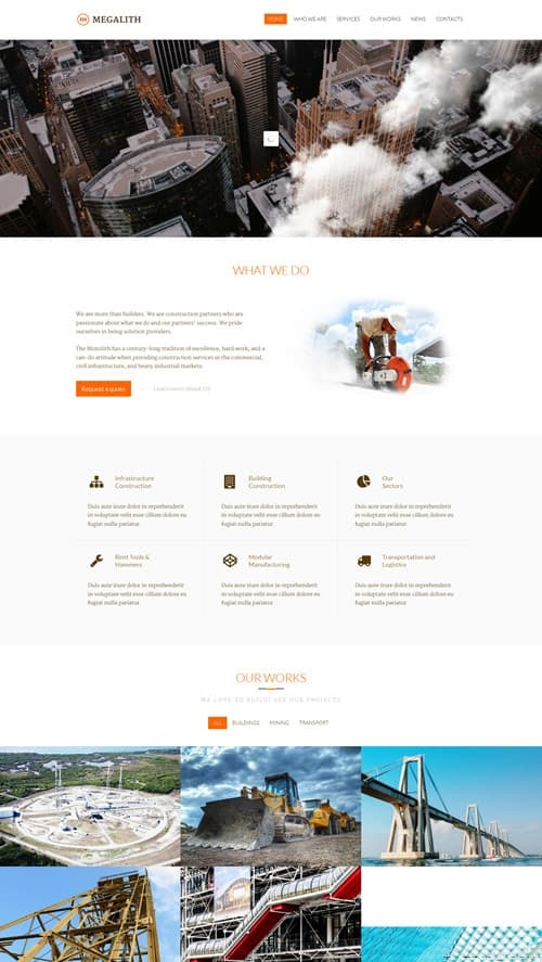 Megalith WordPress Theme