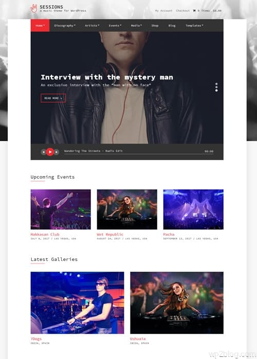 Sessions WordPress Theme