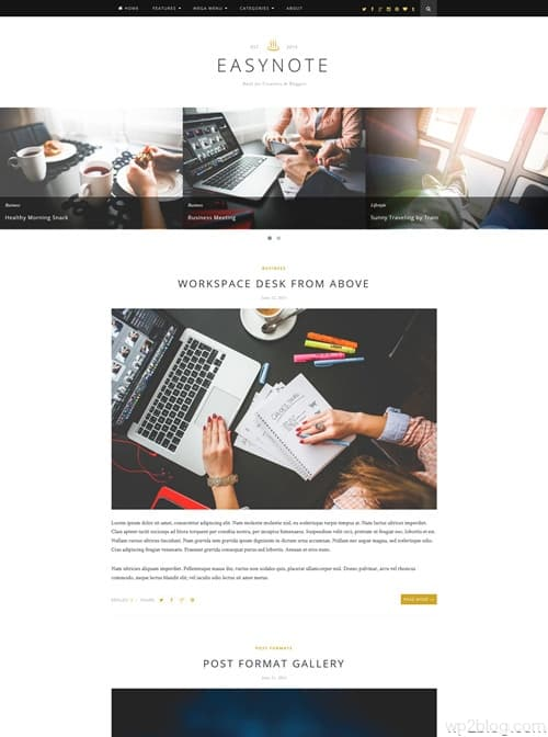 Easynote WordPress Theme