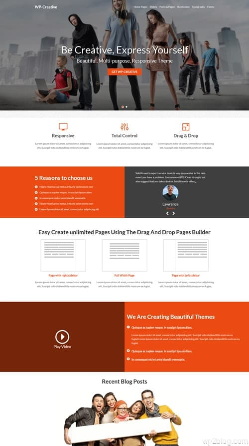 WP-Creative WordPress Theme