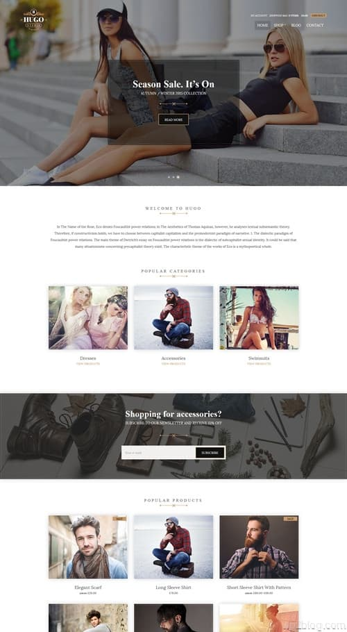 Hugo WordPress Theme