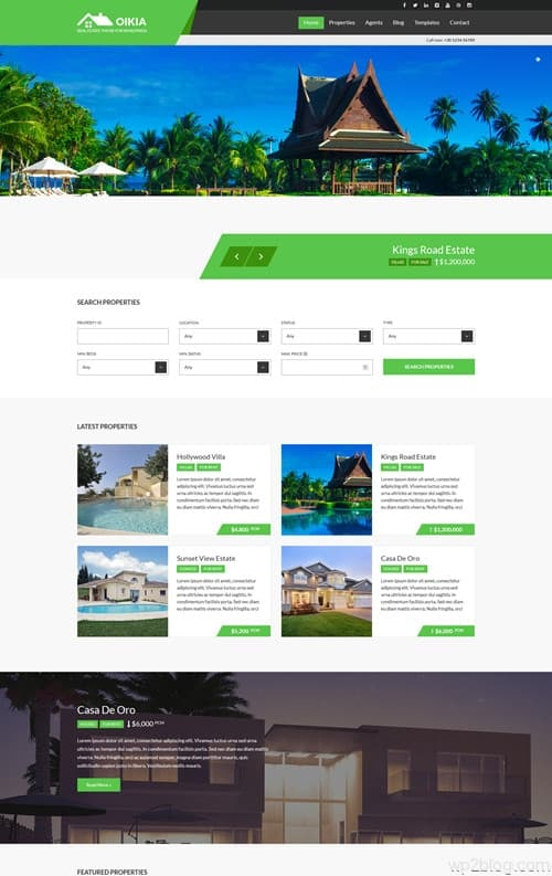Oikia WordPress Theme