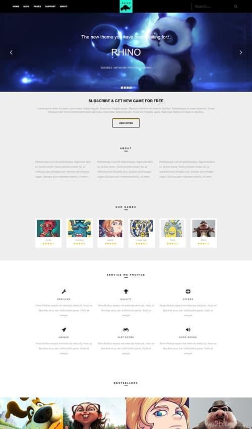 Rhino WordPress Theme