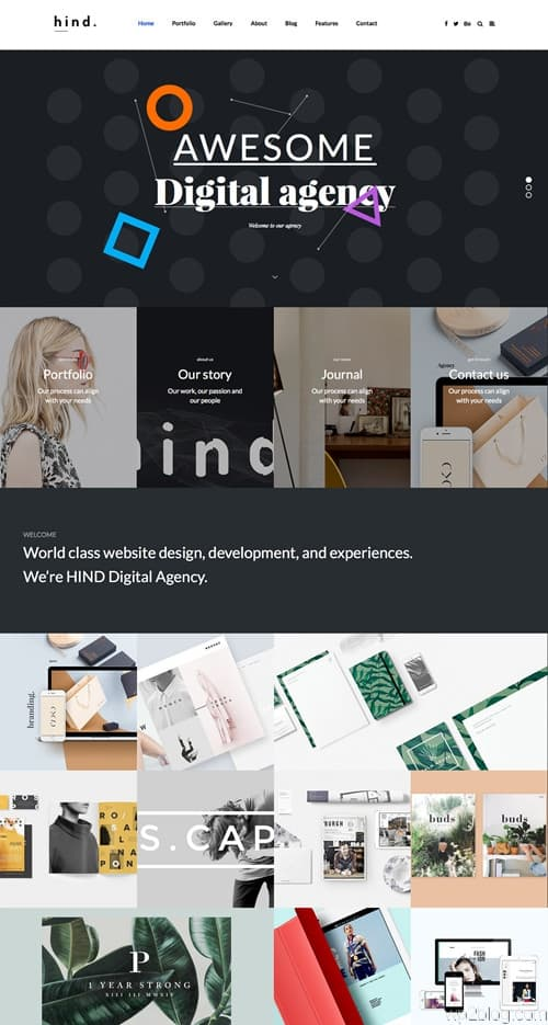 Hind WordPress Theme