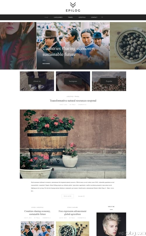 Epilog WordPress Theme