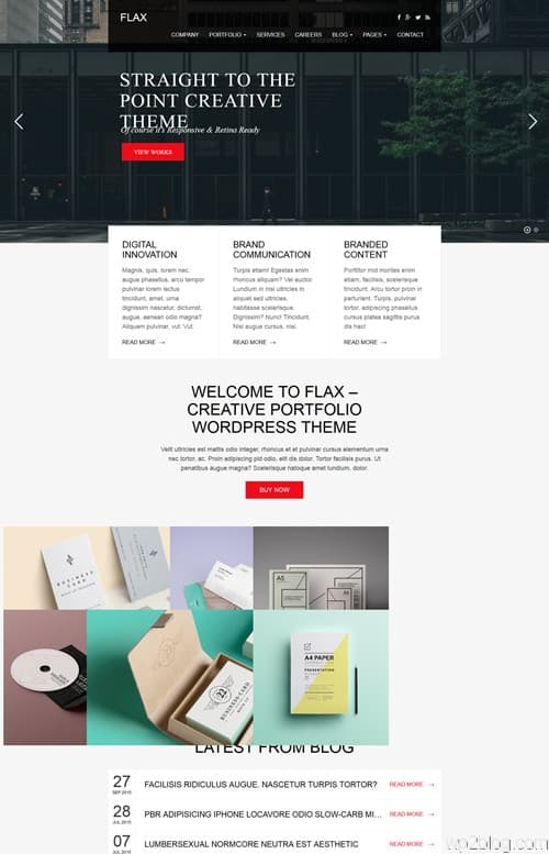 Flax WordPress Theme