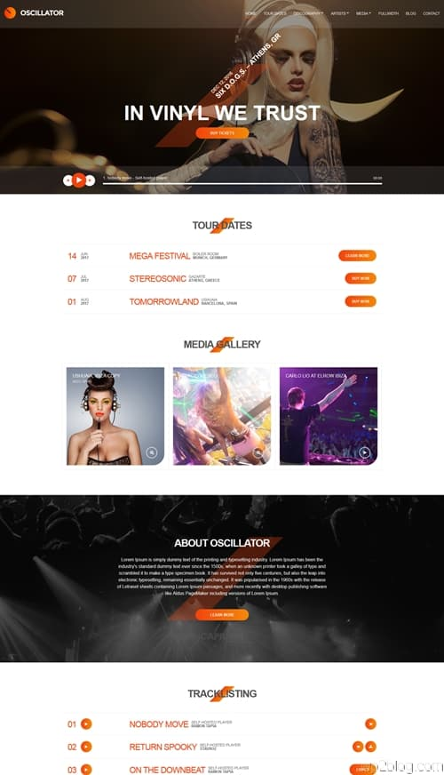 Oscillator WordPress Theme