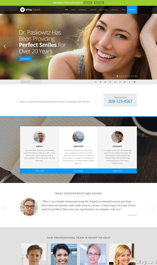 Vital WordPress Theme