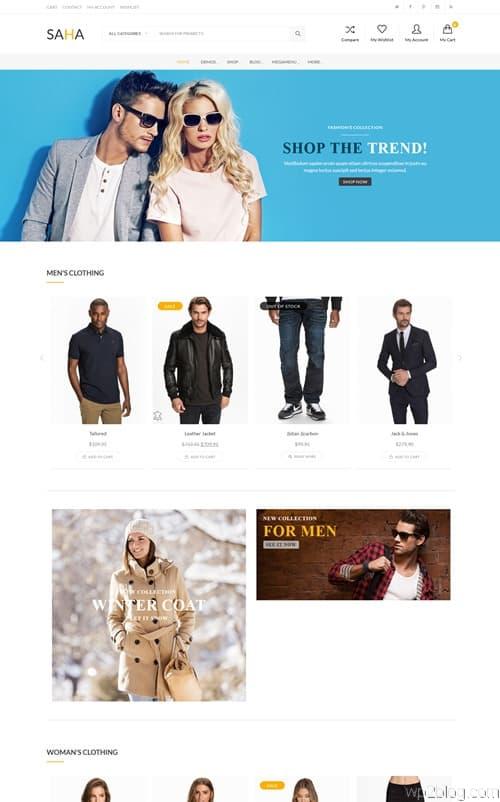 Saha WordPress Theme