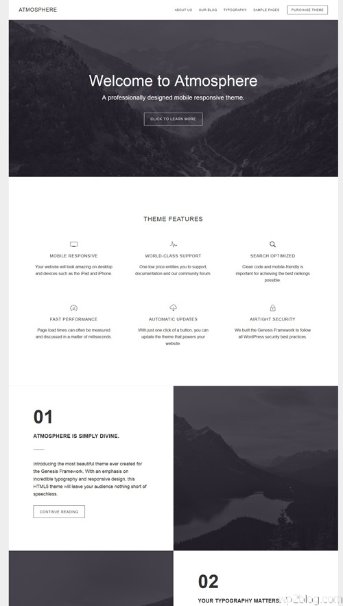 Atomosphere WordPress Theme