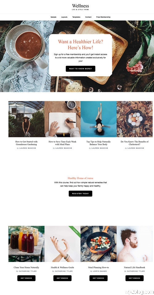Wellness WordPress Theme