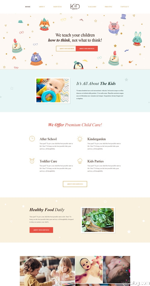 KID QUEST WordPress Theme
