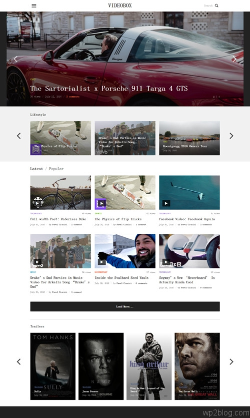 Videobox WordPress Theme