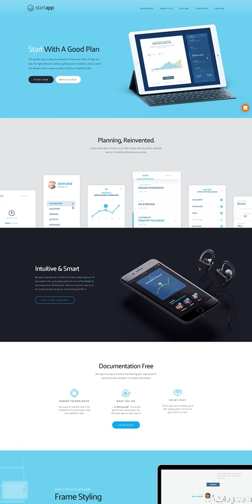 startapp wordpress theme