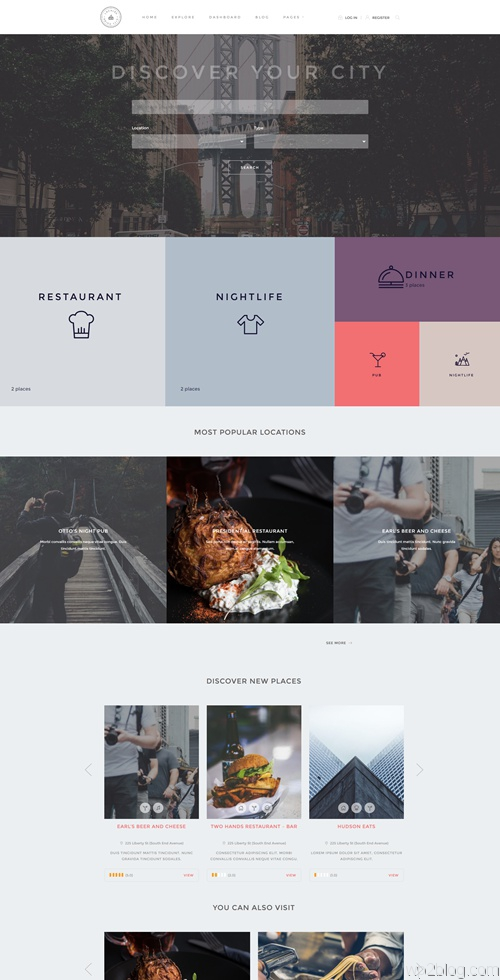 Locales WordPress Theme