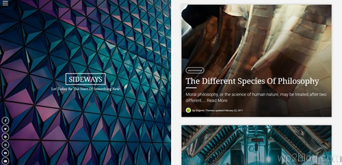 Sideways WordPress Theme