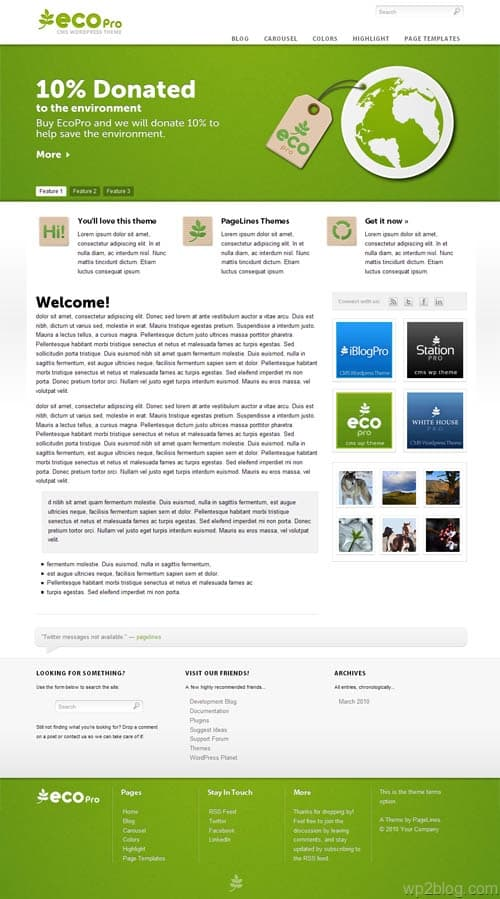 ecopro wordpress theme