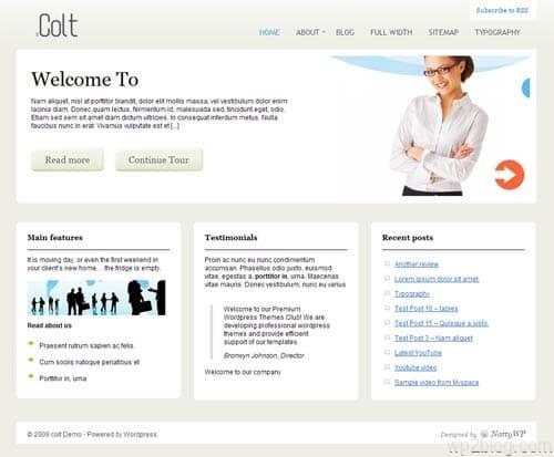 Colt Business Premium WordPress Theme