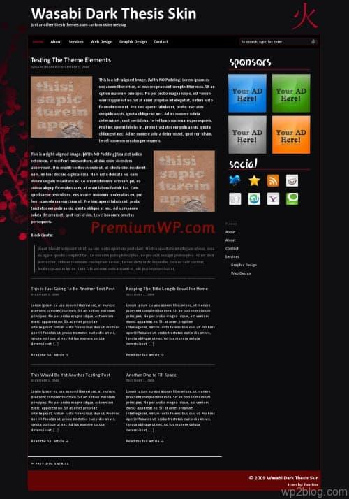 wasabi thesis theme skin
