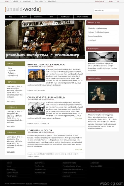 Unsaid Words Premium WordPress Theme