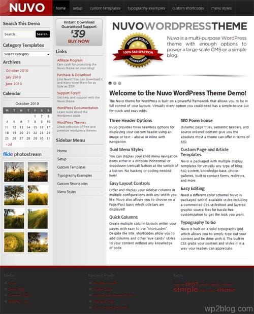 nuvo wordpress theme