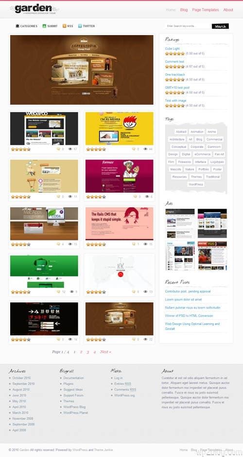 Garden Gallery Premium WordPress Theme