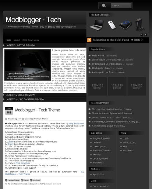 Modblogger Tech Theme