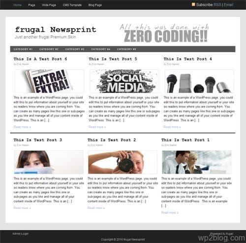 newsprint theme