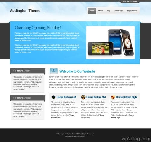 addington wordpress theme