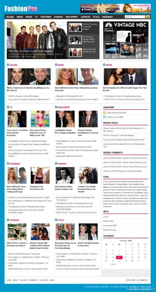 Fashion Pro Premium WordPress Theme