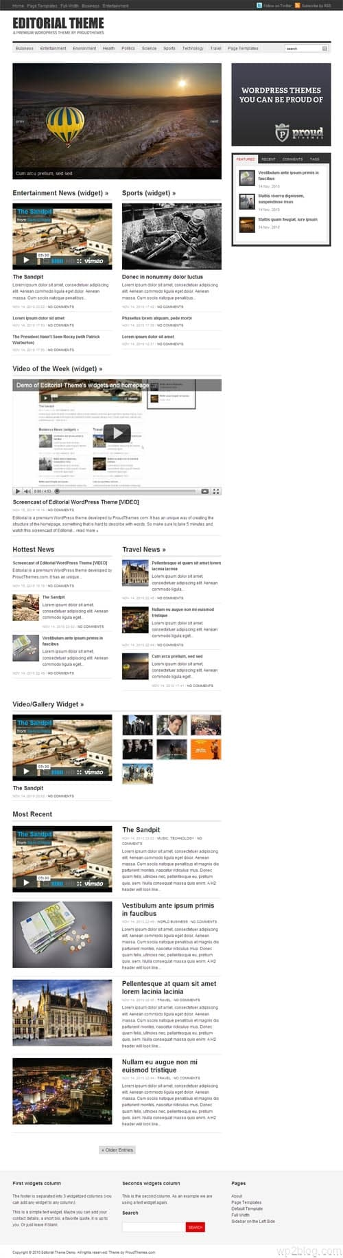 Editorial Premium WordPress Theme
