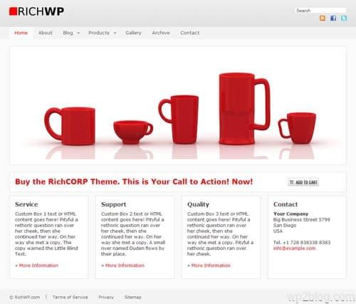 Rich Corp Premium WordPress Theme