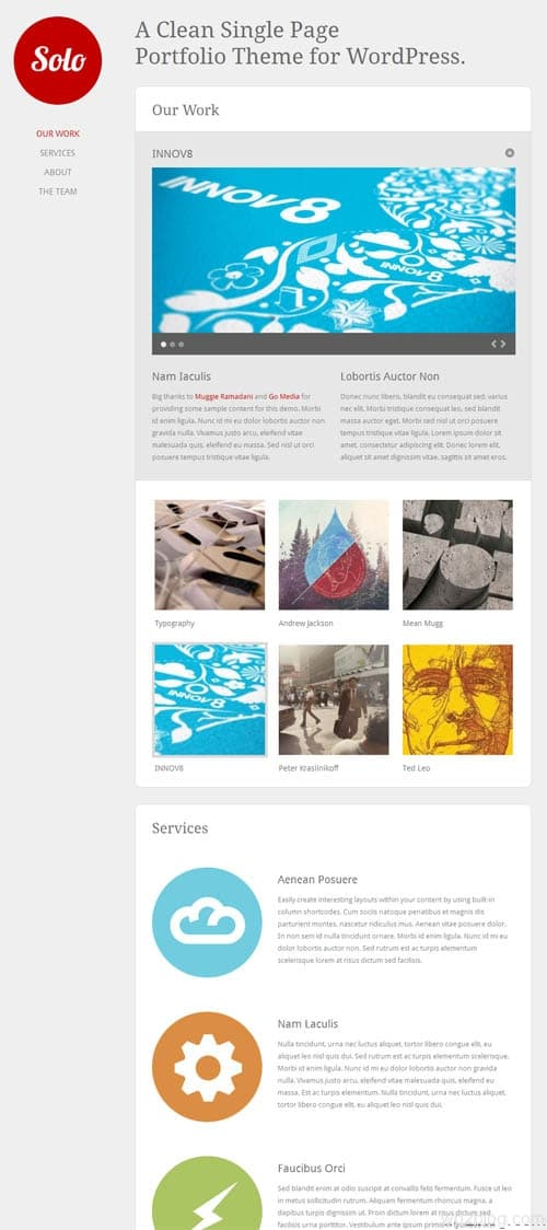 Solo Portfolio Premium WordPress Theme