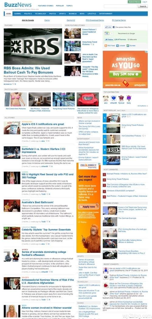 Buzz News Premium WordPress Theme