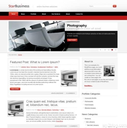 Star Business WordPress Theme