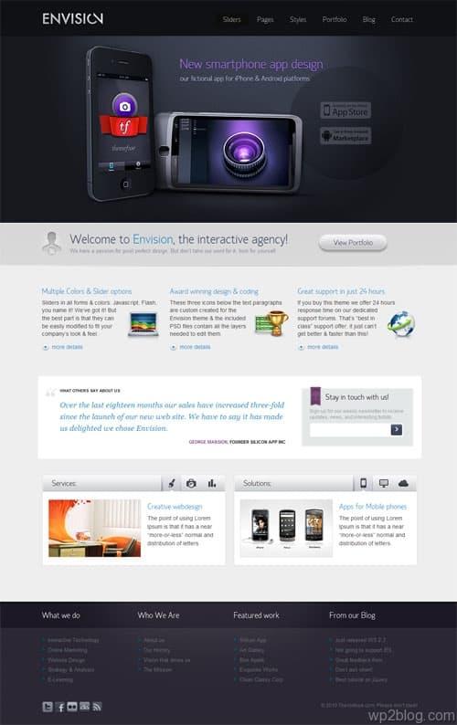 Envision Business Premium WordPress Theme