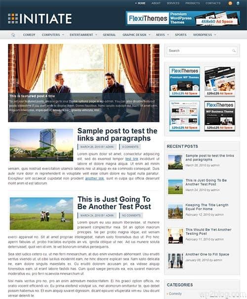 initiate wordpress theme