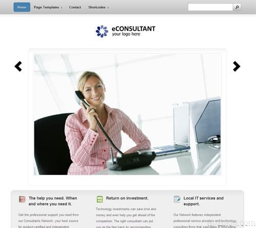 econsultant wordpress theme