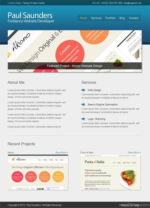 Hasani Business Portfolio WordPress Theme